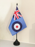 RAF ENSIGN TABLE FLAG (MEDIUM 22.5cm x 15cm) - (15)